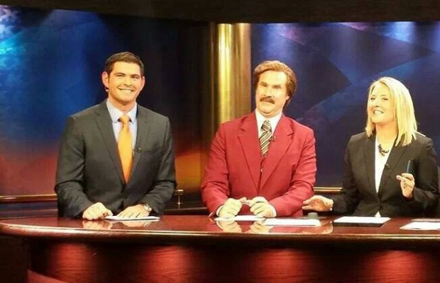 Maxwell's Son Anchors with Ron Burgundy!